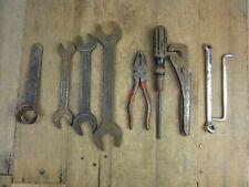 Classic Car Vintage Tool Kit Roll ~7 BMC SNAIL BRAND WHITWORTH SPANNERS PLIERS