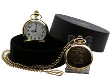 JAM Paul Weller Signed 24k Gold Clad POCKET WATCH and Chain Luxury Case