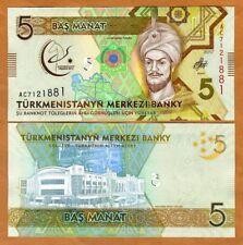 Turkmenistan, 5 Manat, 2017 P-New, UNC > Commemorative