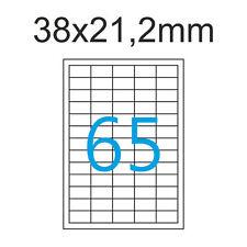 Etiketten 38 X 21 2 Mm 10 Blatt A4 Luma Aufkleber 38x21