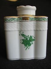 "Herend ""BOUQUET CINESE"" IN VERDE PORCELLANA TEA CADDY & Coperchio #6466 c.1990's EX"