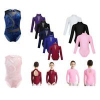Kid Girl Cutout Back Ballet Dance Leotard Gymnastics Jumpsuit Unitards Dancewear