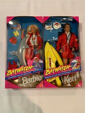 Vintage Barbie & Ken Doll Baywatch Set, 1994 Mattel #13200 & #13199, NRFB