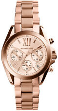 MICHAEL KORS MINI BRADSHAW CHRONOGRAPH WOMENS WATCH MK5799 ROSE DIAL RRP £249.00