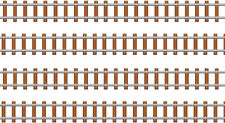 Train Track Edible ICING Sheet Cake Toppers or Borders x 4