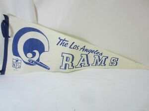 1967 NFL Los Angeles Rams Football Felt Pennant