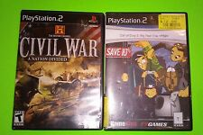 PS2, COD, CALL OF DUTY 2 BIG RED ONE & CIVIL WAR A NATION DIVIDED,