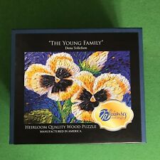 """Whimsy Wooden Jigsaw Puzzle """"The Young Family"""""""
