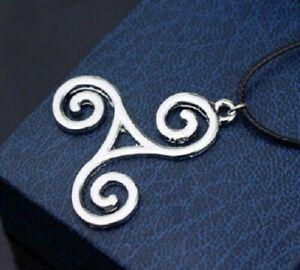 Celtic Triskele Pendant Necklace Irish Pagan Triskelion