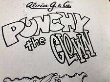 Alvin G & Co Punchy The Clown Arcade Machine Manual Schematics Free Ship