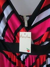 Cherry Lane sz 10 Color Block Stripe Maxi Dress