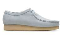 CLARKS ORIGINALS WALLABEE MENS SHOES LIGHT BLUE COMBINATION  48595