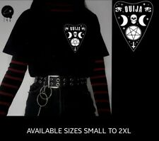 Ouijia Board Aliens Black Unisex Halloween Horror Funny Emo Gothic Grunge Tee