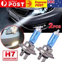 2Pcs 12V H7 55W Xenon Hid White 6000k Halogen Car Head Light Lamp Globes Bulbs