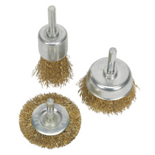 BWBS03 Sealey Wire Brush Set 3pc Brassed [Wire Brushes]