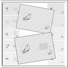 A6 X 24 LUXURY WEDDING INSERTS FOR  SPECIAL CARDS (12 BLANK x12 WITH VERSE)