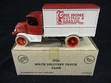 THE HOME SAVINGS & LOAN CO. Youngstown OH : ERTL 1926 Mack Delivery Truck Bank