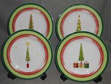 2006 Set (4) Studio Nova JOYEUX NOEL PATTERN Salad Plates