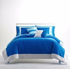 3-Pc Pantone Universe Full-Queen Comforter Set Colorblock Aster Blue White