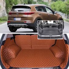 PU Leather Rear Trunk Cover Cargo Mats Seat Back Protector Carpets For Kia KX5
