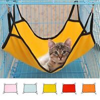 Four Hooks Pet Cat Hanging Hammock Soft Fabric Puppy Dog Cage Bed Sleep Rest New