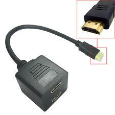 1pcs, 2 Port HDMI splitter hub switch multi 1 Input 2 Output adapter