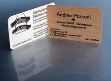 500 BIGLIETTI DA VISITA DI LEGNO - wood business cards