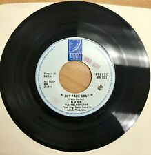 "Very Rare! Rush Single 45 7"" Vinyl record ""Not Fade Away"" Moon Records MN 001"