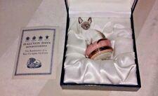 Halcyon Days Porcelain Bonbonniere Siamese Kitten Cat animal original box