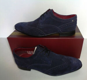 Base London Mens Navy Leather Brogues Formal Shoes New RRP £75 UK Size 8