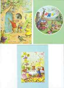 SET OF 3 MEDICI COLLECTABLE POSTCARDS BY ARTIST RACEY HELPS