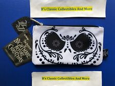 Loungefly Jack Skellinton Suger Skull Zip Pouch, Cosmetic/Coin Bag, Disney New