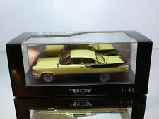 NEO MODELS 440905 DODGE CUSTOM ROYAL LANCER 2-dr - YELLOW 1:43 - MINT IN BOX