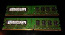 DDR2 800 4GB KIT (2GBX2) SAMSUNG M378T5663QZ3-CF7 PC2-6400U RAM PC DOUBLE 240