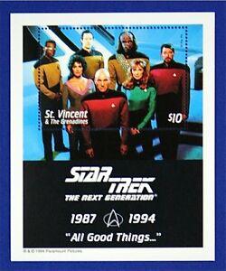 B069 ST. VINCENT 1994 Star Trek Next Generation S/S Mint NH