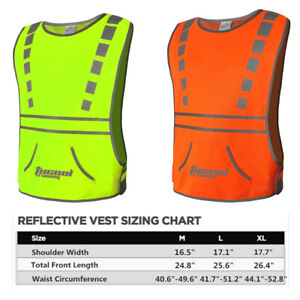 Tucoolracing Running Cycling Reflective Vest with High Visibility Safety Bands