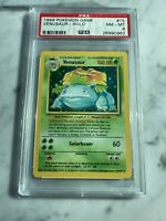 VENUSAUR 1999 POKEMON ENGLISH BASE GAME SET UNLIMITED HOLO #15 - PSA 8 NM-MT