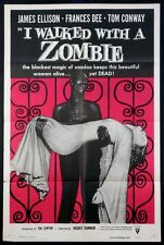 I WALKED WITH A ZOMBIE VAL LEWTON HORROR R-1956 1-SHEET