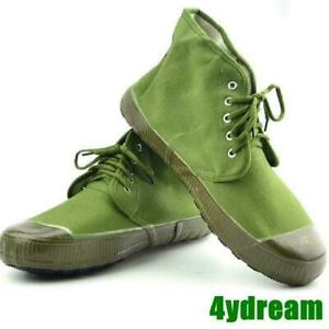 Chinese Army Mens Tactical Shoes Training Work Liberation Army Green Ankle Boots