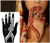 Henna Schablone Tattoo Sticker Kina Dövme Hand Links Mehndi