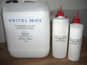 Holzleim D3 Leim Unitol 874 wasserfest 0,5 kg für innen und außen WATT 91