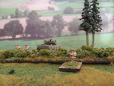 10mm Wargames 4 piece Hedgerow Set - individually made - painted & flocked 11cm