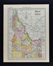 1911 McNally Map - Idaho - Boise Twin Falls Wallace St. Anthony Pocatello Falls