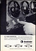 "1963 STUDEBAKER AVANTI HAWK LARK AD A2 CANVAS PRINT POSTER 23.4""x16.5"""