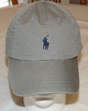 Mens Polo Ralph Lauren hat cap golf casual Metal Grey 4331027 adjustable classic