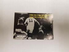 Chicago Sting 1984/85 MISL Indoor Soccer Pocket Schedule - Purity Bottling Co