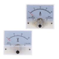 2 Pezzi Amperometro Analogico DC Misurare Corrente Elettrico Circuito