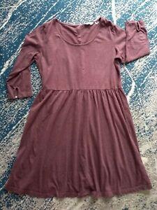 Fat Face Uk14 Ladies maroon burgundy Cotton Dress