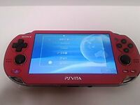 PlayStation PS VITA Console Wi-Fi Model Red PCH-1000 ZA03 Japan Used