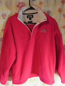 Pink Ashworth Golf Weather Systems 1/4 Zip Pullover Size 8  Fleece. Jacket